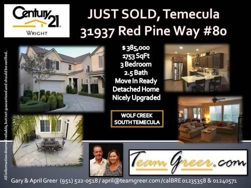 jUST SOLD RED PINE